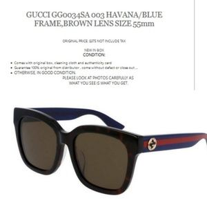 752bfddf90a Gucci Accessories - GUCCI GG0034SA 003 FRAME BROWN LENS LENS SIZE 55mm